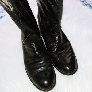 Laredo Black Leather Boots 8.5